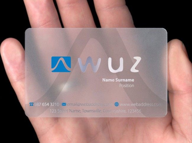 Clear Plastic Buiness Cards